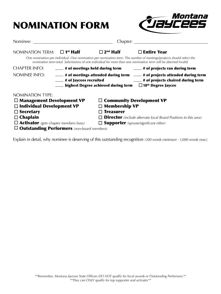 December 2014 - Montana Jaycees Fill Online, Printable, Fillable