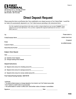 Fillable deposit request letter - Download Budget, Bussiness
