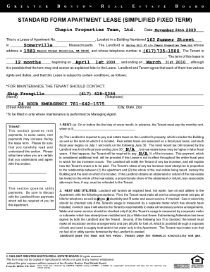 Rent And Lease Template Standard Form Of Lease - Fillable ...