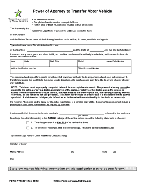 Bill of sale form pennsylvania motor vehicle power of for Power of attorney to transfer motor vehicle form