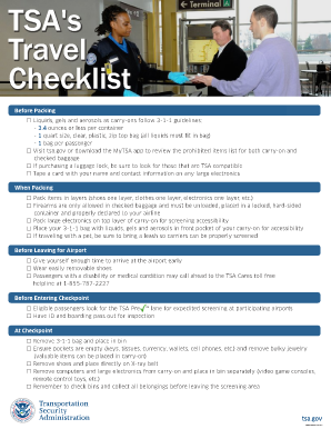 TSA 's Travel Checklist - Transportation Security ...