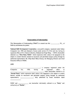 17 Printable Memorandum Of Understanding Template Nonprofit