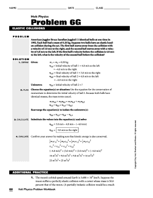 Holt Physics Problem 6g Fill Online Printable Fillable Blank