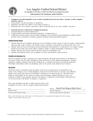 Byod acceptable use policy fill out online download for Computer usage policy template