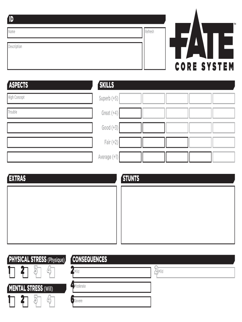 Rpg Character Sheet Template from www.pdffiller.com