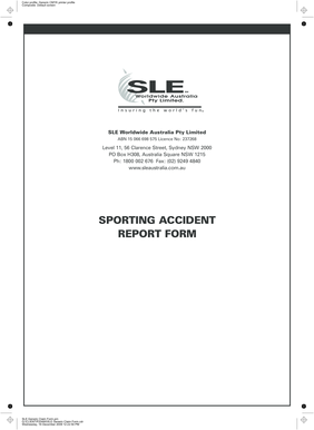 SPORTING ACCIDENT REPORT FORM - SLE Worldwide...