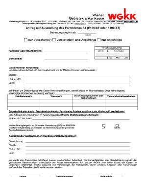 Antrag Auf Ausstellung Des Formblattes S1 - Fill Online, Printable ...