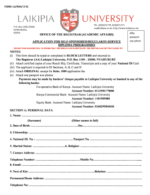 application forms for laikipia university