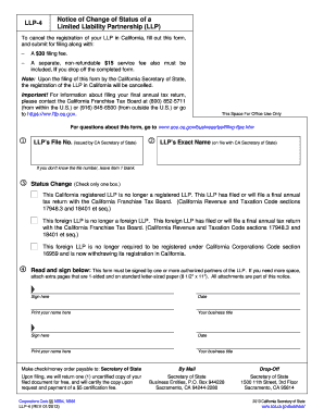 Llp Partnership Agreement California Fill Out Online