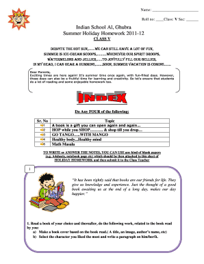 indian school al ghubra holiday homework 2014