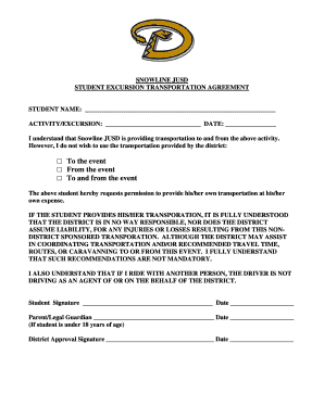 Excursion Permission Form Template  Permission Forms Template