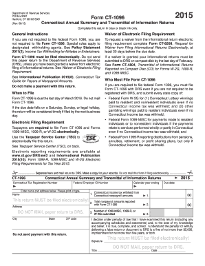2015 Form CT DRS CT-1096 Fill Online, Printable, Fillable, Blank ...