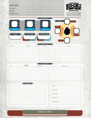 Star Wars Edge Of The Empire Character Sheet Fill Online