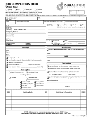 Job Completion Form - Fill Online, Printable, Fillable, Blank ...