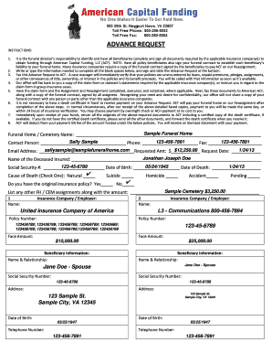 sample funeral home receipt - Edit & Fill Out, Download Printable ...