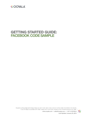 Getting started guide: facebook code sample - Ooyala Support Center