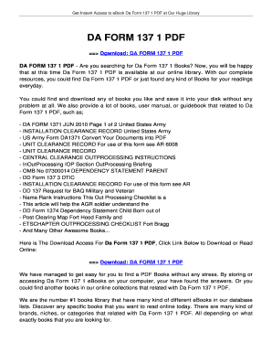 Fillable Online megateeth DA FORM 137 1. DA FORM 137 1 Fax Email ...