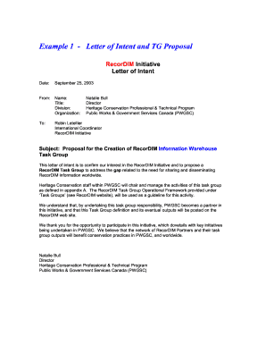 Example 1 - Letter of Intent and TG Proposal - The - extranet getty