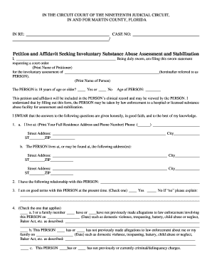 Fillable Online Marchman Act Packet - Martin County Clerk of Court ...