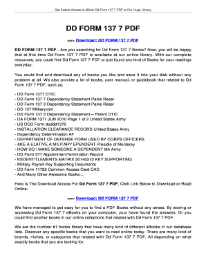 Fillable Online innotexa DD FORM 137 7. DD FORM 137 7 Fax Email ...