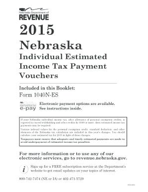 2016 Form NE DoR 1040N-ES Fill Online, Printable, Fillable, Blank ...