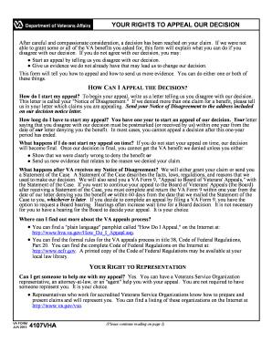 Va Form 4107vha - Fill Online, Printable, Fillable, Blank | PDFfiller