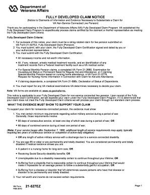 Fillable Va Form 21 527ez Edit Online Print Download Forms In