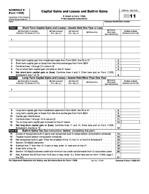 1120s schedule d - Printable Governmental Templates to Fill