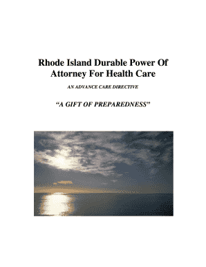 Rhode Island Durable Power of Attorney for Health Care form pdf - health ri