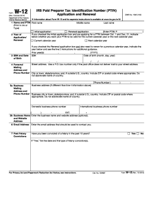 IRS W-12 form | PDFfiller