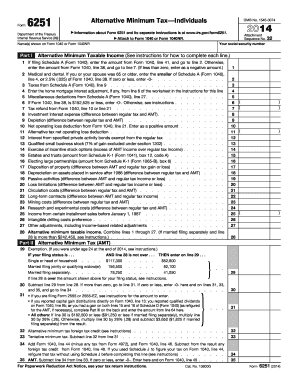 6251 Form 2014 - Fill Online, Printable, Fillable, Blank | PDFfiller
