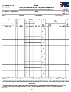 Certified Payroll Form Templates - Fillable & Printable Samples ...