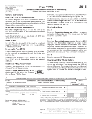 2015-2017 Form CT DRS CT-W3 Fill Online, Printable, Fillable ...
