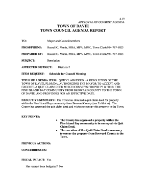 Fillable example of a quit claim deed download templates in pdf 19 approval of consent agenda town of davie town council agenda report to mayor and solutioingenieria Choice Image