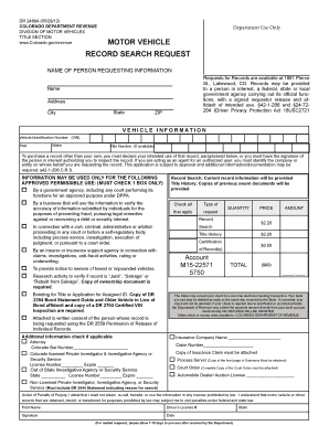 fillable online colorado motor vehicle record search