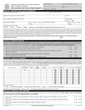Dss Food Stamp Application In Mo