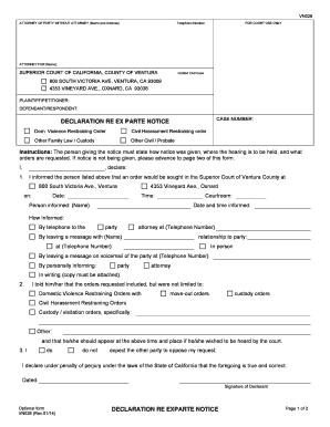 2017 2020 Form Ca Vn028 Ventura