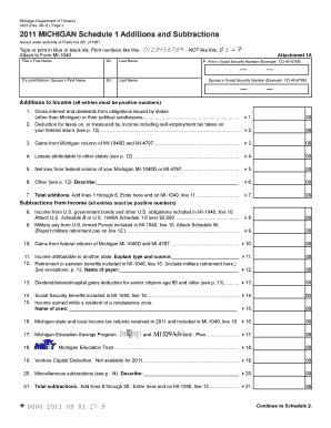Editable printable goodwill donation receipt fill out print 2011 michigan schedule 1schedule 2 michigan altavistaventures Images
