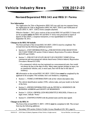 Reg 343 sample - Fill Out, Print & Download Online Forms Templates ...