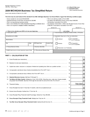 business bill of sale form free download 4583 2009 michigan business tax simplified return 4583 2009 michigan business tax simplified return