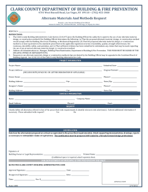 Alternate Materials And Methods Request Form 1003 - clarkcountynv