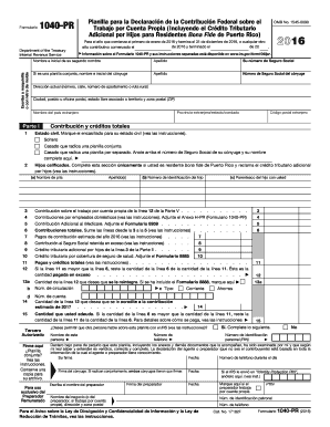 2015 Form 1040-PR. Self-Employment Tax Form -- Puerto Rico (Spanish Version) - irs
