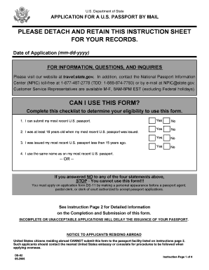Printable Ds 11 Passport Form Fill Out Download Top Rental Forms