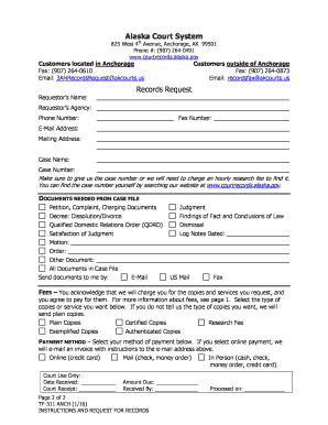 TF-311 ANCH Instructions for Requesting Records Trial Court Forms