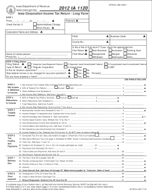 2 Cooperative Reset Form Print Iowa Department Of Revenue Www Gov Tax Office Use Only 2017 Ia 1120 Corporation Income Return Long