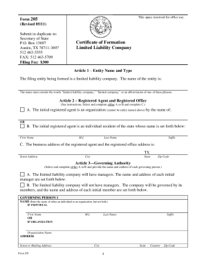 Form 205 - Fill Online, Printable, Fillable, Blank | PDFfiller