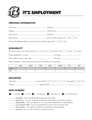 Itz Application - Fill Online, Printable, Fillable, Blank | PDFfiller