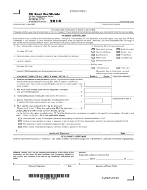 Fillable Online Rent Certificate and Rental Fax Email Print ...
