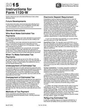 form 1120 estimated tax payments