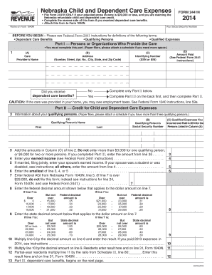 Fillable Online BEFORE YOU BEGIN Please see Federal Form 2441 ...